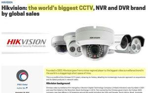 hikvision maior marca de cftv do mundo