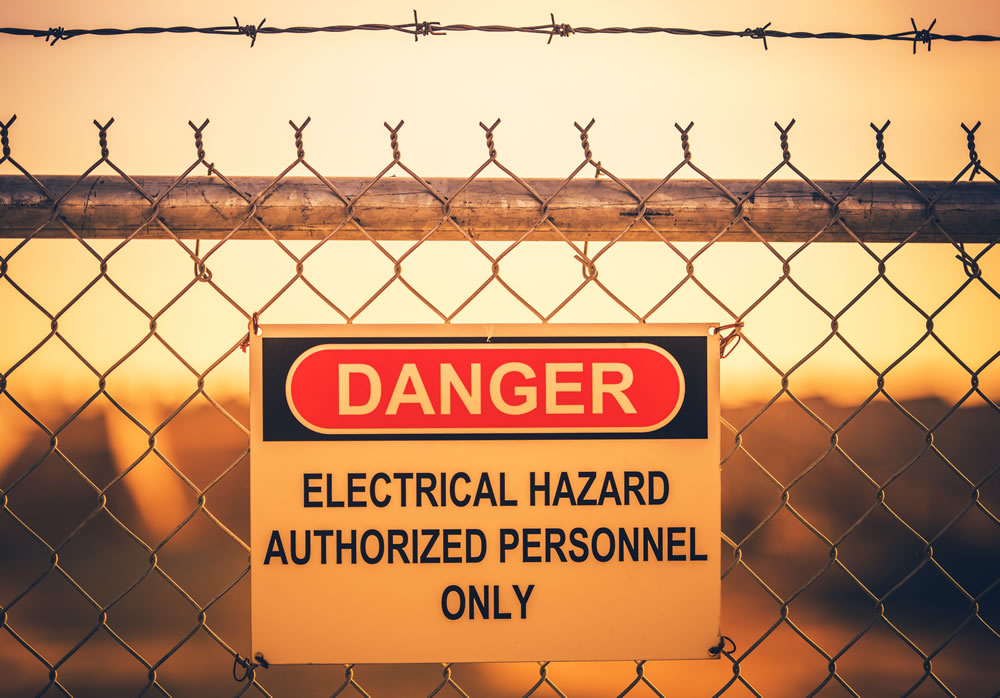 aviso de cerca elétrica